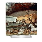Hicks: Noahs Ark, 1846 Shower Curtain