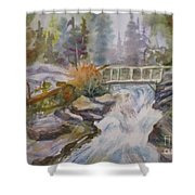 Hidden Falls Tetons Shower Curtain