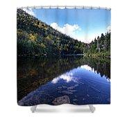Hidden Mountain Pond  Shower Curtain
