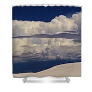 Hidden Mountains In The Shadows Of The Storm Shower Curtain