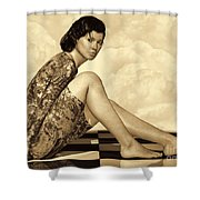 Hidden Secrets - Sepia Shower Curtain