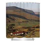 High Angle View Of A House, County Shower Curtain