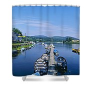 High Angle View Of Rowboats In The Shower Curtain