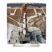 High-angle View Of The Apollo 10 Space Shower Curtain