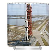 High Angle View  Of The Apollo 14 Space Shower Curtain