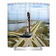 High Angle View  Of The Apollo 14space Shower Curtain