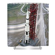 High Angle View  Of The Apollo 15 Space Shower Curtain