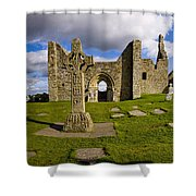 High Cross At Clonmacnoise, County Shower Curtain
