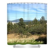 High Desert Landscape Shower Curtain
