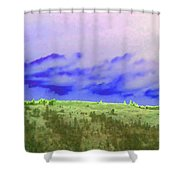 High Green Pastures  Shower Curtain