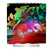 High Hopes Shower Curtain by Linda Sannuti
