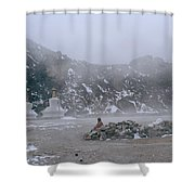 High In The Himalayas Shower Curtain