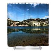 High Mountain Paradise Shower Curtain