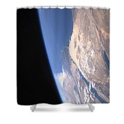 High Oblique Scene Looking Shower Curtain