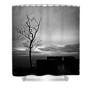 High On The Mountain Top Shower Curtain