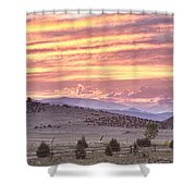 High Park Fire Larimer County Colorado At Sunset Shower Curtain