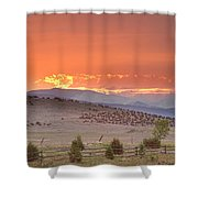 High Park Wildfire At Sunset Shower Curtain