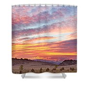 High Park Wildfire Sunset Sky Shower Curtain