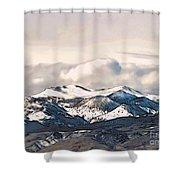 High Sierra Mountains Shower Curtain
