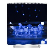 High-speed Flash Photograph Liquid Coronet. Shower Curtain