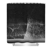 High Speed Photography Shower Curtain