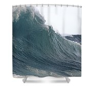 High Stormy Seas Shower Curtain