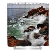 High Tide At Bass Harbor Head Shower Curtain