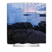High Tide At Dusk Shower Curtain