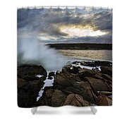 High Tide At Otter Point Shower Curtain