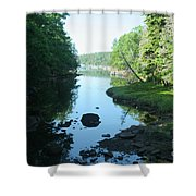 High Tide In Maine Part Of A Series Shower Curtain