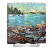 Highest Tide Rebecca Spit Shower Curtain