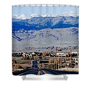 Highway 52 End Of The Line Shower Curtain