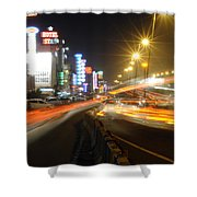 Highway And Hotels Shower Curtain