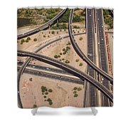 Highway Planet Art Shower Curtain