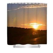 Highway Sunrise Shower Curtain