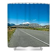 Highway Towards Panoramic Mountain Shower Curtain