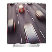 Highway Traffic In Motion Shower Curtain