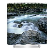 Highwood River Shower Curtain by Bob Christopher