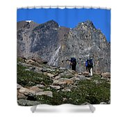 Hiking In Jasper Shower Curtain