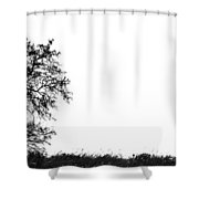 Hill And The Well Shower Curtain