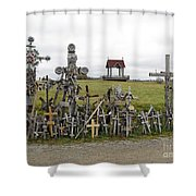 Hill Of Crosses 01. Lithuania Shower Curtain