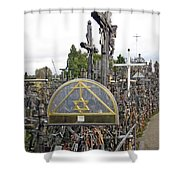 Hill Of Crosses 04. Lithuania Shower Curtain