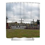 Hill Of Crosses 05. Lithuania Shower Curtain