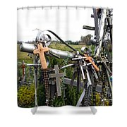 Hill Of Crosses 08. Lithuania Shower Curtain