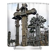 Hill Of Crosses 09. Lithuania Shower Curtain