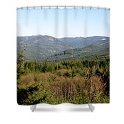 Hills And Trees Shower Curtain