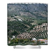 Hills Dales And Vineyards Shower Curtain