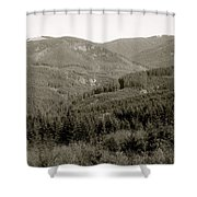 Hills In Black And White Shower Curtain
