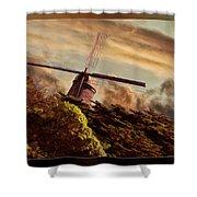 Hillside Windmill Shower Curtain