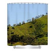 Hilltop Lineup Shower Curtain